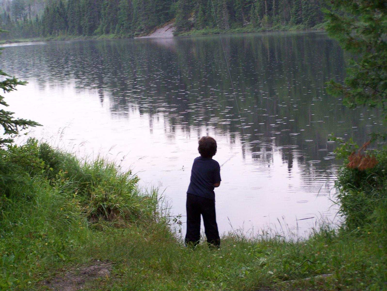 Fishin in the rain